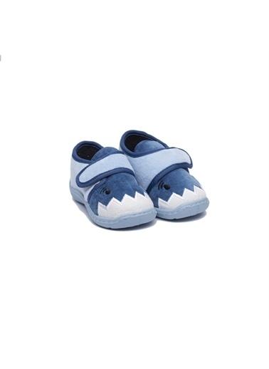 First Step Nakışlı Çocuk Panduf F-711 Mavi